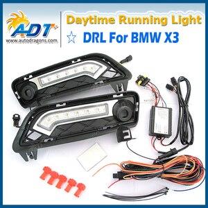 Светодиодные Автомобильные дневные ходовые огни Canbus 12 в 6 Вт * 2 Cr высокой мощности 1320lm для BMW X3 F25 2010-2014 DRL дневная лампа с поворотом
