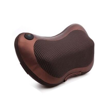 ФОТО Home car dual-use multifunction dish massager cushion massage pillow cervical lumbar leg massager Infrared Heating body massager
