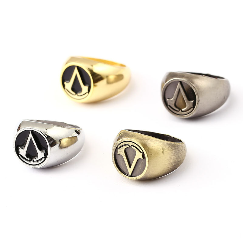 vintage assassins creed master ring anime cosplay accessories fashion aros wedding rings halloween party men jewelry swxfz277 in rings from jewelry - Anime Wedding Rings