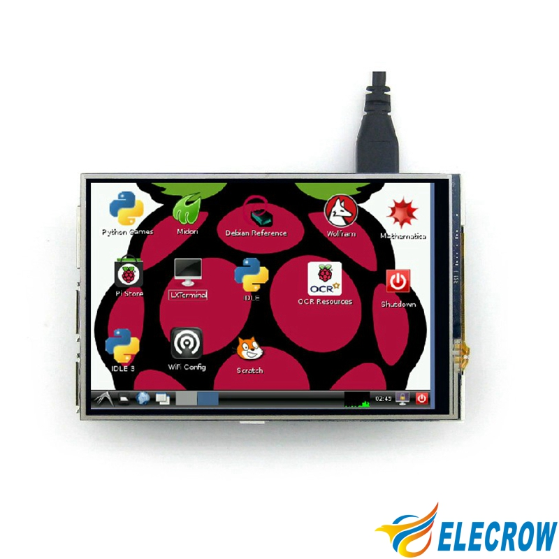 Elecrow 4 Inch Display Raspberry Pi Touch Screen LCD TFT HD 480X320 Spi Interface Monitor for Raspberry Pi A B 2B 3B in LCD Modules from Electronic Components Supplies