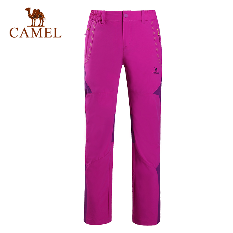ФОТО Camel Female Outdoor Camping Hiking Pants Quick Drying Breathable Ultra light Women Trousers A6S170125
