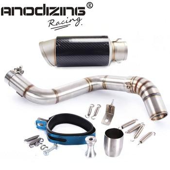 Motorcycle Exhaust middle pipe + Muffler for KTM DUKE150 DUKE200 DUKE250 DUKE390 2012-2016 Slip-On
