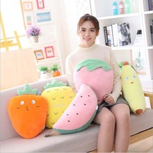 Banana Watermelon Strawberry Plush Toys Stuffed Fruits Doll Toy Soft Plush Pillow Cushion Adults & Children Gift tropical fruits doll bearbrick be rbrick 400