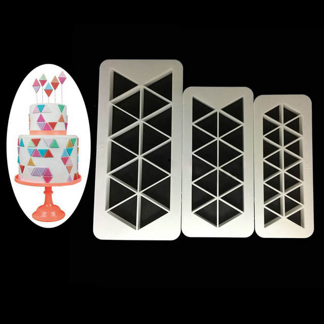 Cake Decorating Tools 3Pcs Geometry Fondant Cookie Cutter Cake Mold Fondant  Mold Fondant Baking 6 Type