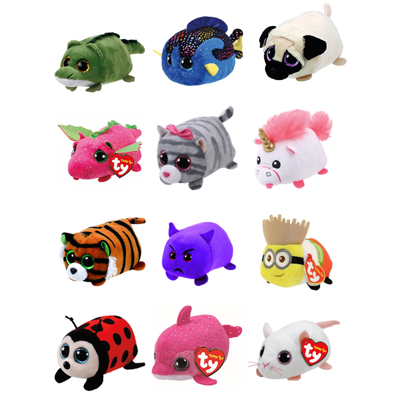 a2fb250a8cb Ty Teeny Tys 4 10cm Fluffy the Unicorn Dog Cat Owl Tiger Mouse Plush  Stuffed Animal Collection Soft ...