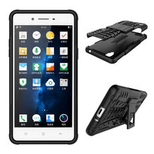 For OPPO F1 A35 Case With Kickstand Hard PC TPU Silicone Dual Layer Armor  Case Shockproof Anti-Skid Case For OPPO F1 A35 5.0