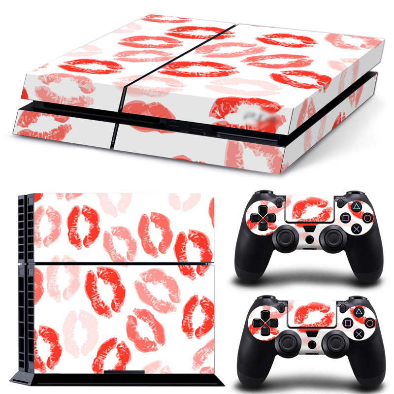 Cover Decal PS4 Skin Sticker For Sony Play Station 4 Console & 2 Controller Skins PS 4 Game Accessory