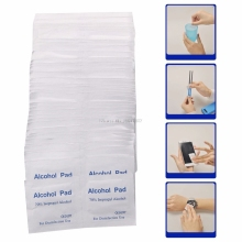 New 100 Pcs/Box Alcohol Wipe Pad Medical Swab Sachet Antibacterial Tool Cleanser -B118