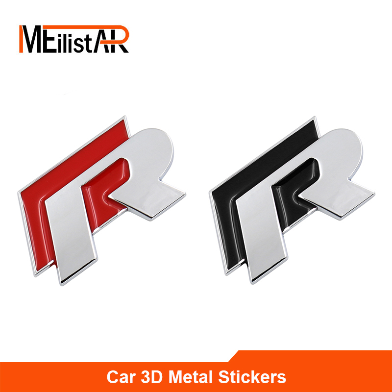 1 pc 3D Chrome R line Badge logo Emblem Rline Car stickers Racing logo VW Golf 5 6 7 Touareg Tiguan Passat B6 B7 Jetta Sharan golf 3 td 2011