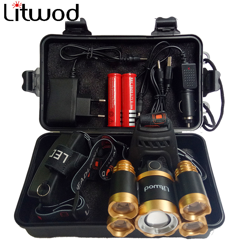 Litwod Z20 CREE XHP70 Led Headlamp Power Bank Function Micro USB Rechargeable 18650 Battery zoom headlight head flashlight Lamp litwod z20 super bright led headlamp 9 xml t6 led headlight usb rechargeable head lamp 18650 high power led headflashlight
