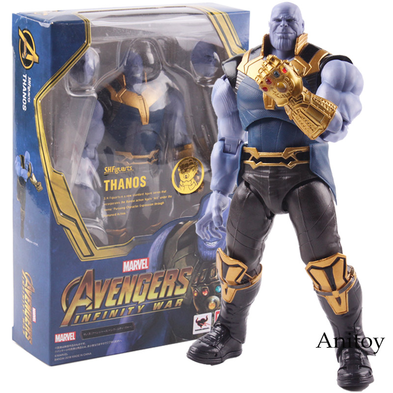 SHF Avengers Infinity War Thanos Figure PVC Thanos Action Figure Marvel Collectible Model Toy