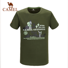 Camel Sportswear Men's T-shirts 2016 Outdoor Print Camping&Hiking Looser Comfortable Top Male Simple T-shirts A6S2T7108