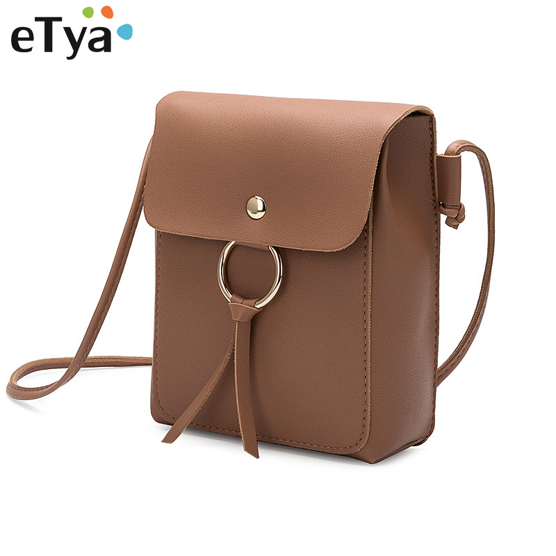 eTya Fashion Woman Bag Leather Ladies Cross Body Phone Pouch Messenger Bags Female Shoulder Handbag Crossbody Bags for Women new arrival messenger bags fashion rabbit fair for women casual handbag bag solid crossbody woman bags free shipping m9070