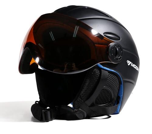 Prix pour MOON 2016 Date style casque De Ski professionnel ski sport de sécurité de la neige bonne qualité casque MS95 AVEC VISIÈRE
