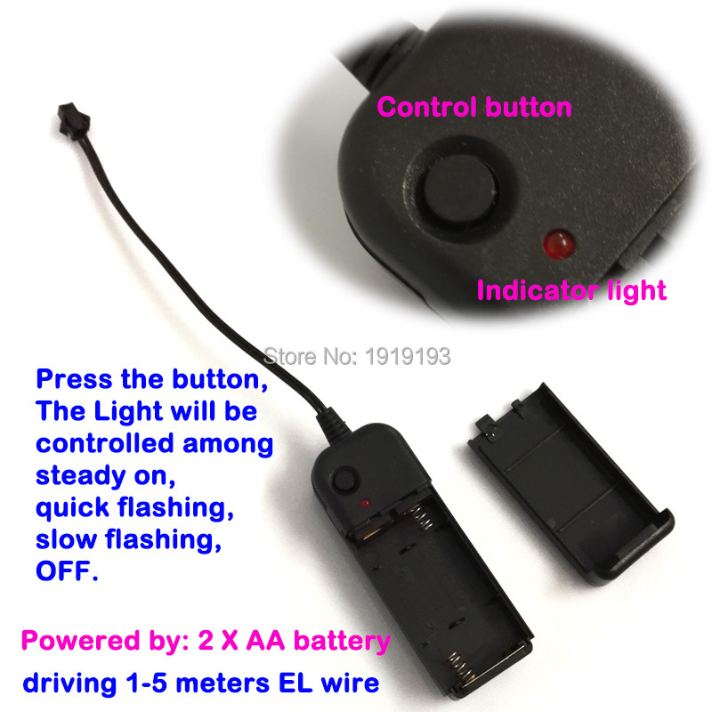 Terkini Jenis Dua WARNA EL Wire berwarna-warni Neon LED Light Up Cuti - Pencahayaan perayaan - Foto 6