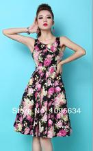 Buy audrey hepburn pink and get free shipping on aliexpress free shipping womens retro audrey hepburn big pink rose flower printed swing 50s rockabilly floral dress mightylinksfo Choice Image