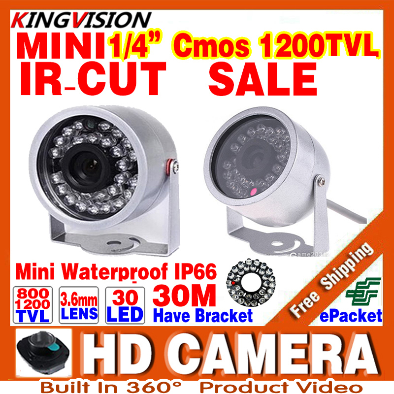Sale Mini Surveillance 1/3cmos 800/1200TVL LED Security Infrared 30m Color ahdl CCTV Camera Outdoor Home Video HD Night Vision 30m video