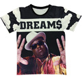 2015 New Round collar short sleeve T-shirt biggie smalls/2Pac/cartoon 3D Design print men t shirt fashion summer tee tshirt