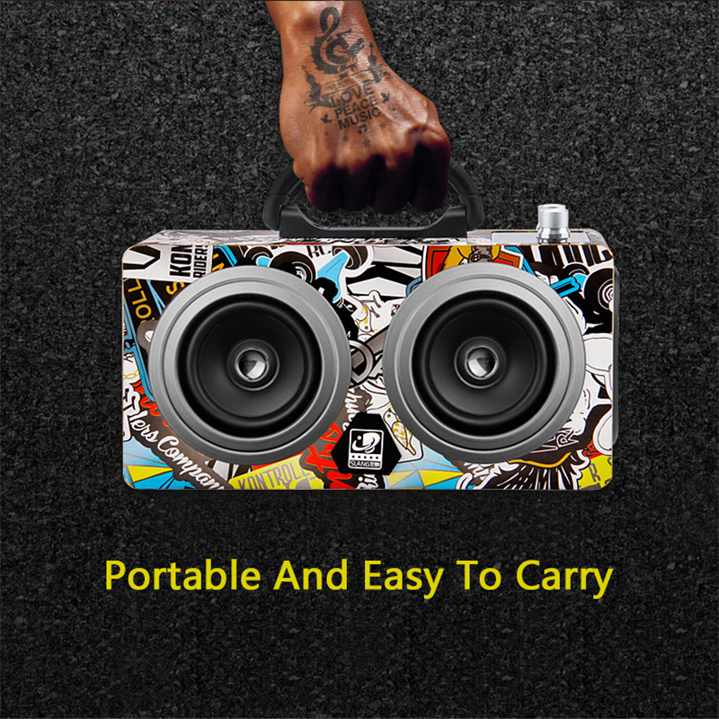 Portable 20W Bluetooth Speaker Outdoor Wireless Stereo Super Bass Subwoofer Dancing Loudspeaker For Phone Computer