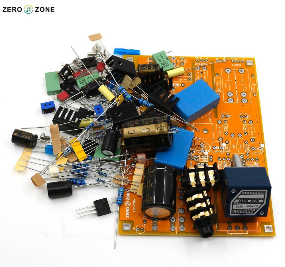 GZLOZONE Upgraded Headphone Amplifier Kit Preamp Kit Base On Lehmann Amp + ALPS Potentiometer