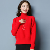 2017 New Women Autumn WInter Loose Large Size Sweater Pullover Solid Knitted Sweater Top For Female