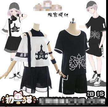 2b9bc9940 Nuevo NieR: automata camiseta juego 2B yorkha n. ° 2 tipo B Heroine blanco  hombres Camiseta de manga corta de verano tops de algodón