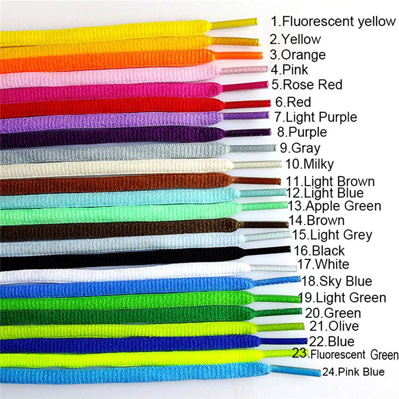 1 Pair Hot Sale 51 Inch Athletic Shoelaces Practical Solid Color Sport Sneaker Boots Shoe Laces Strings 21 Colors Free Shipping
