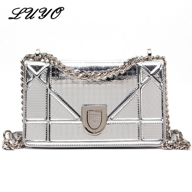 Luyo новый летний цепи сумка щит замок Crossbody сумки для Для женщин Роскошные Сумки Для женщин Курьерские сумки дизайнер Каналы