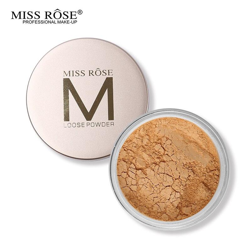 Fröken Rose 12 Färger Naken Ansikts Makeup Löspulver Oljekontroll Bananpulver Skin Finish Långvarig inställning Fix Finish Make Up