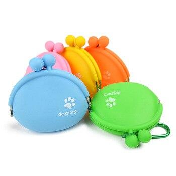 Pet Dog Walking Food Treat Snacks Bag Outdoor Silicone Dog Training Food Storage Pockets Pouch Waist Storage Hold