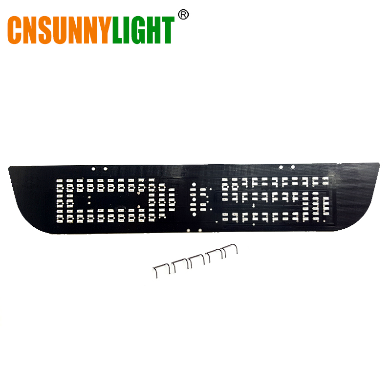CNSUNNYLIGHT LED Additional Brake Stop Light Panel Replace For Mitsubishi Delica D5 Japanese Car T10 W5W Bulb Red DIY Brake Lamp