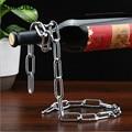 1 unid 2 estilos de Bastidores de Vino Hecho A Mano Chapado Proceso de Apoyo Home Kitchen Bar Accesorios Prácticos Sostenedor Del Vino