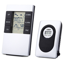 Buy online TS – H146 433MHz Wireless Weather Station Alarm Clock Temperature and Humidity Tester Indoor Outdoor Thermometer Hygrometer