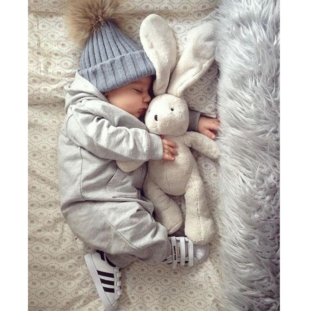 5 Color Baby Toddler Girls Boys Warm Winter Knit Beanie Fur Pom Hat Crochet Ski Ball Cap