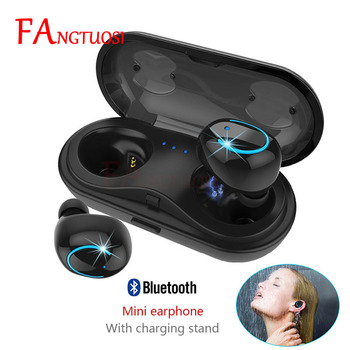 FANGTUOSI Wireless Bluetooth Earphone Mini Headsets with Mic Handsfree Earbuds in-ear earphone With Charging Box for Android NEW bluetooth