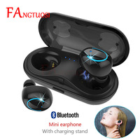 FANGTUOSI Wireless Bluetooth Earphone Mini Headsets with Mic Handsfree Earbuds in ear earphone With Charging Box for Android NEW