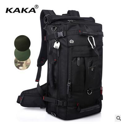 ФОТО Brand KAKA Top Quality 40L Outdoor Backpack Men Travel Backpack Multi Function Laptop Travel Bag Backpack Camouflage Oxford Bag