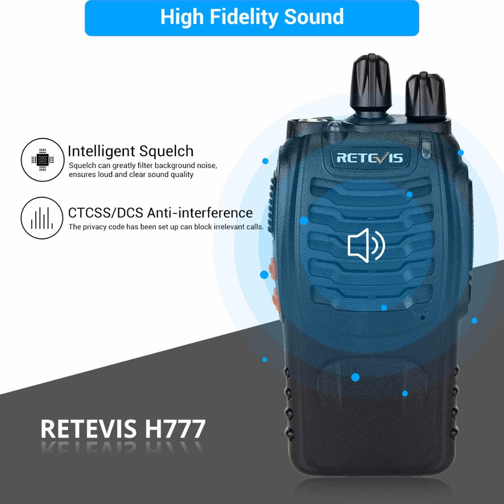 Image 3 - 2 pcs Retevis H777 Professional Walkie Talkie Handy Two Way Radio Station Transceiver Two Way Radio Communicator Walkie Talkie-in Walkie Talkie from Cellphones & Telecommunications