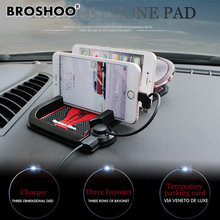 BROSHOO Universal Car Dashboard Anti Slip Mat Non-slip Pad Charging For Android Iphone Smart Mobile Phone Parking GPS Holders