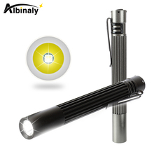 Portable pen clip LED Flashlight Non-slip waterproof aluminum alloy Super bright mini torch Powered by 2 AAA batteries цена