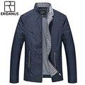 2016 Homens de Meia Idade das Jaquetas De Negócios Primavera Outono Novo Estilo Britânico Estande Casuais Colarinho Slim Fina de Alta Qualidade Coats M392