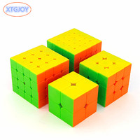 4pcs/set 2*2,3*3,4*4,5*5 Smooth Cube Puzzle Brain Teaser Magico Speed Cubo Hand Spinner Kids Educational Toys for Children Gifts