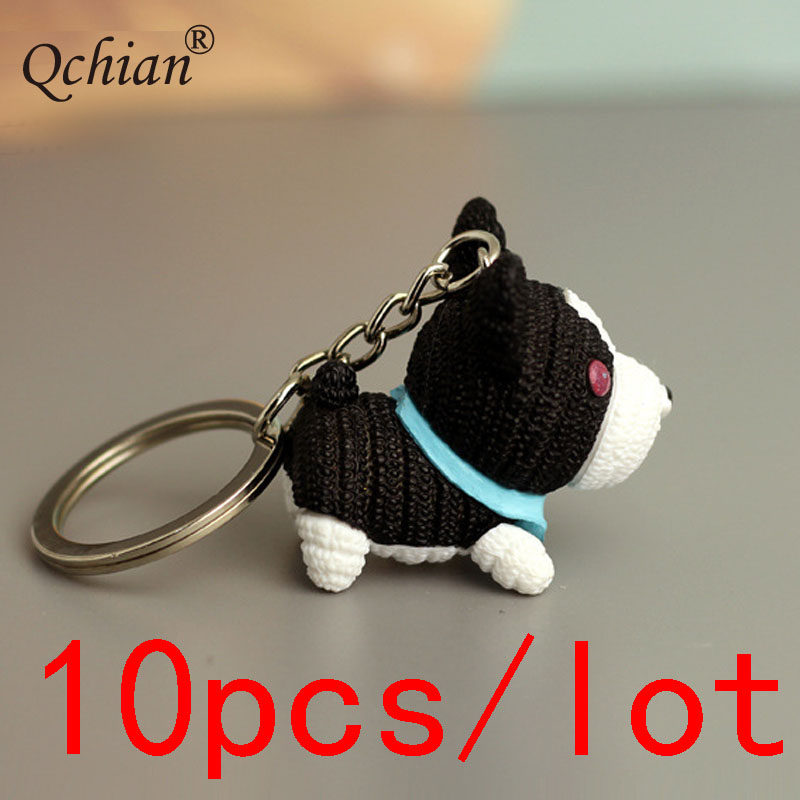10pcs/lot Korean Cute Plastic Puppy Backpack Key Decoration Pendant Mini Dog Keychain Beautiful Holiday Gift For Kids Always Buy Good