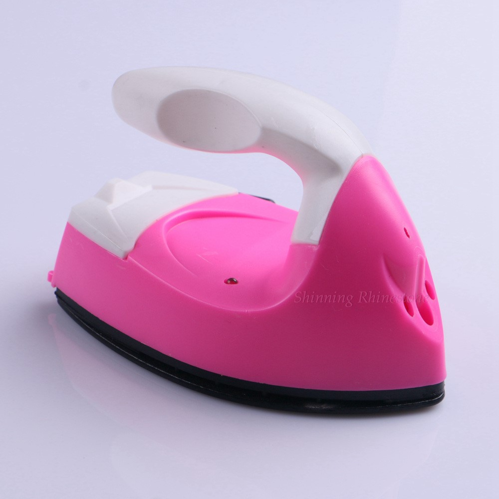Fast Heated! Electric Iron Hotfix Applicator For Clothes Patches Garment Rhinestones Hot Fix Iron-on Travel Electric Iron Heat