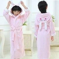 Children S Bathrobes Kids Cotton Hooded Cartoon Cap Long Sleeve Sleepwear Girls And Boys Robes Pyjamas