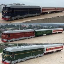 Alto trem de simulação model.1:87 escala liga puxar para trás trem duplo, compartimento de passageiros, carros de brinquedos de metal, frete grátis, frete grátis