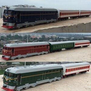 Image 1 - 높은 시뮬레이션 기차 model.1: 87 규모 합금 다시 더블 기차, 여객 구획, 금속 장난감 자동차, 무료 배송