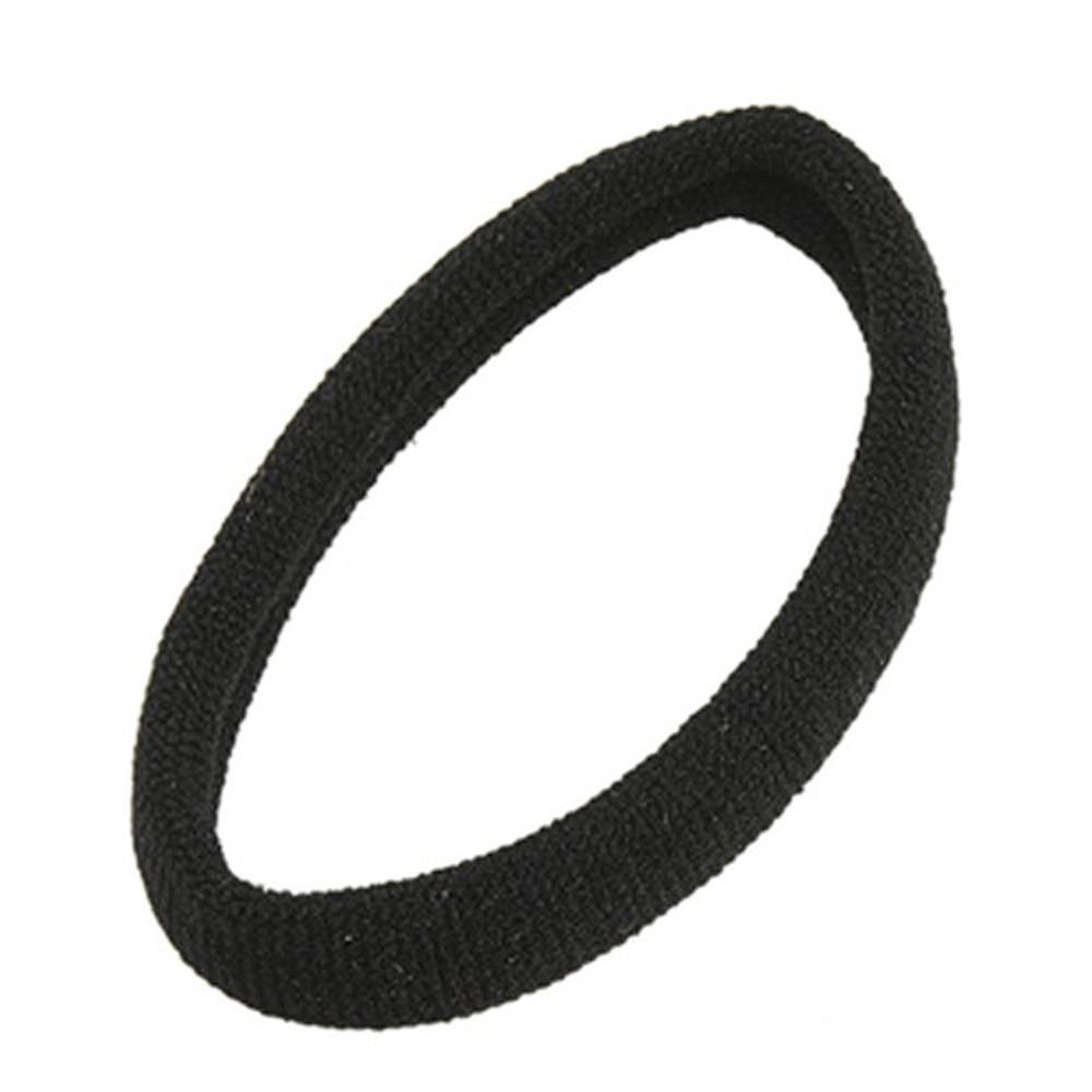 8 pcs Black Stretchy Band Hair Tie Holder Ponytail Holder