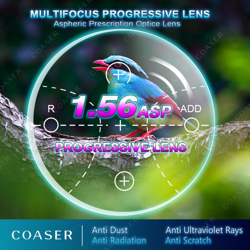 Livraison Forme Multifocale 1.56 Verre Progressif Lunettes Transition Photochromiques Lecture Optique Prescription Ordinateur Myopie Lunettes