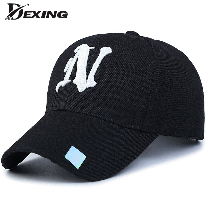 [Dexing]unisex fashion cotton baseball cap Black Adult  letter Casual  snapback  hats for men women BONE simple sports hat  2017 new hot brand cotton men hat baseball cap casual outdoor sports unisex snapback hats cap for men women